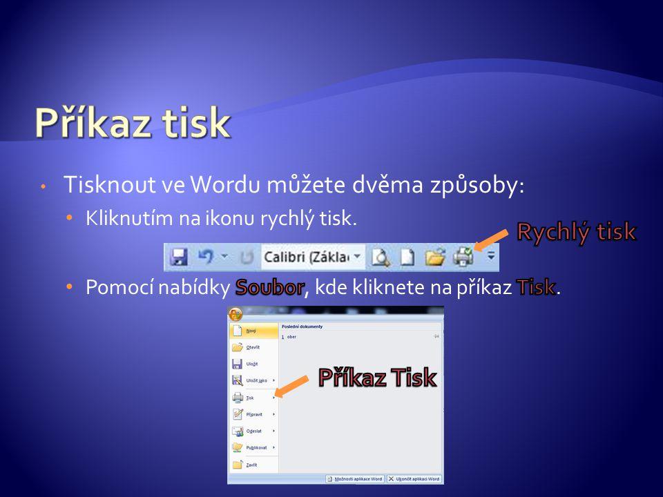 Po kliknutí na tisk se vám zobrazí následující dialogové okno, ve kterém můžete pracovat.