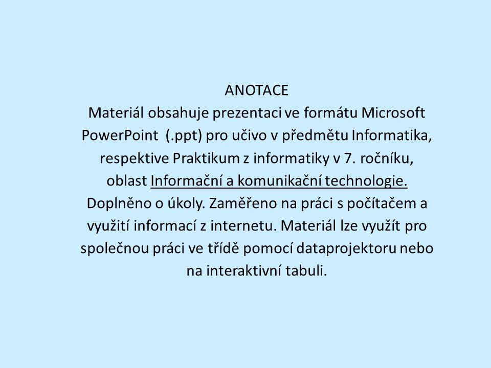 Číslování stránek Je velmi užitečný nástroj, který slouží pro orientaci v dokumentu, stejně jako v knize.