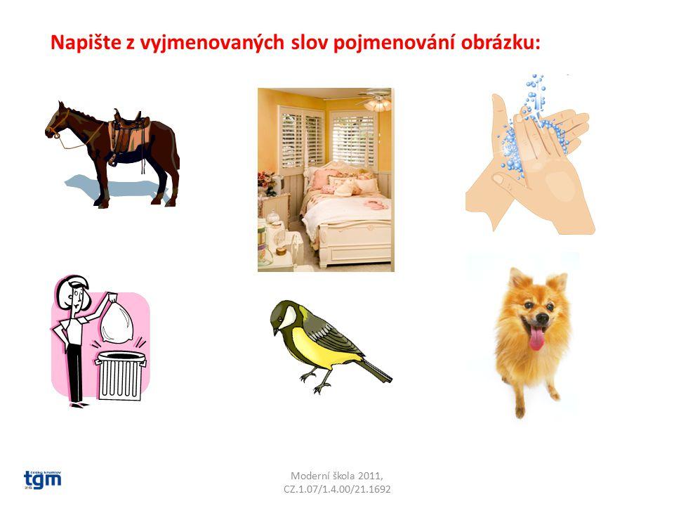 Moderní škola 2011, CZ.1.07/1.4.00/21.1692 Napište z vyjmenovaných slov pojmenování obrázku:
