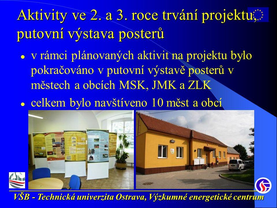 __________________________________________________________ VŠB - Technická univerzita Ostrava, Výzkumné energetické centrum Aktivity ve 2.