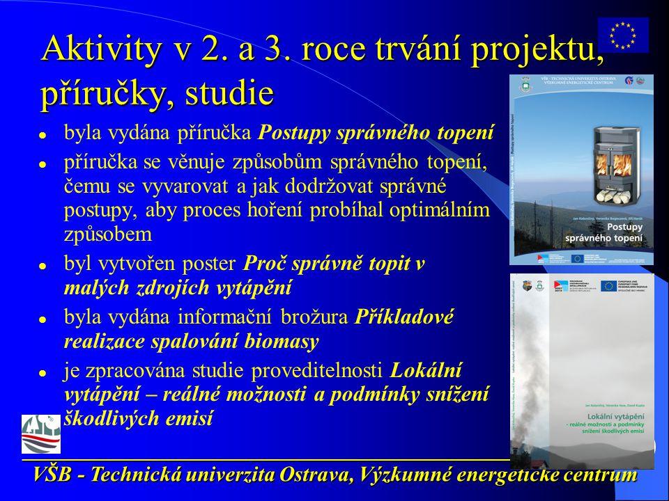 __________________________________________________________ VŠB - Technická univerzita Ostrava, Výzkumné energetické centrum Aktivity v 2.