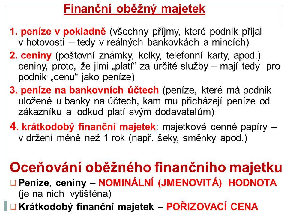 Finanční oběžný majetek 1.