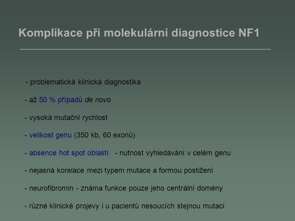 Citlivost detekce TH mRNA - fragmentační analýza 10 -3 bb NB 10 -4 bb NB 10 -5 bb NB 10 -6 bb NB
