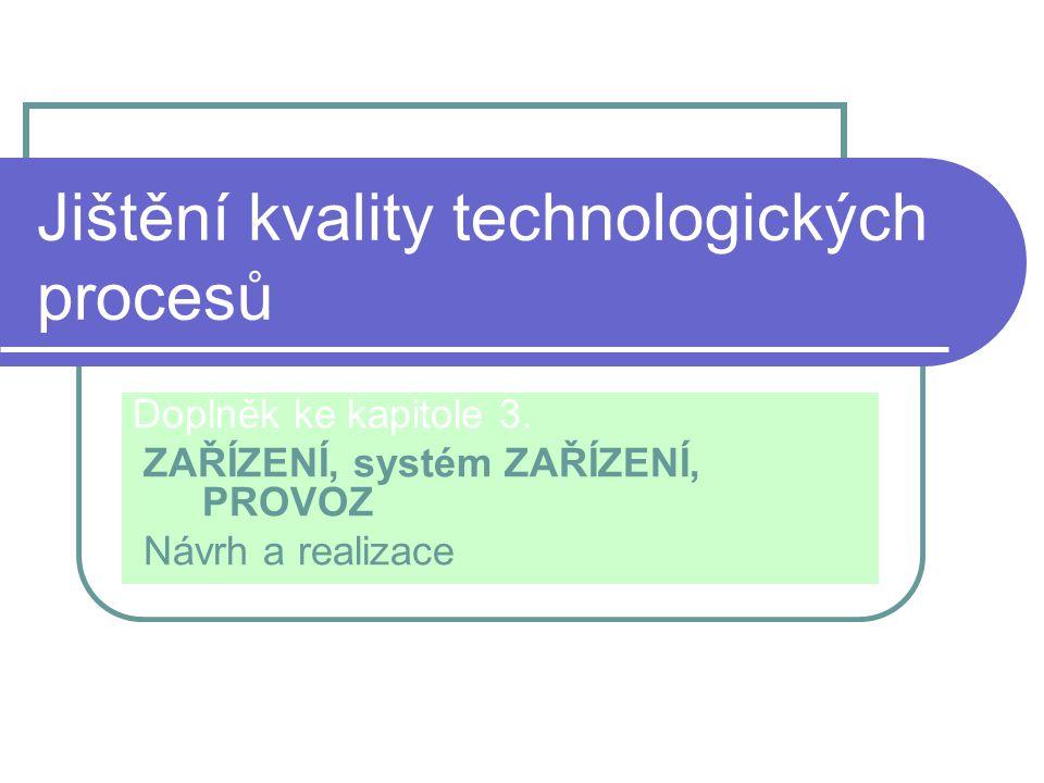 Jištění kvality technologických procesů Doplněk ke kapitole 3.