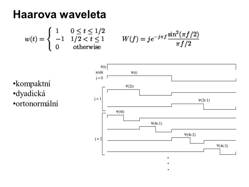 Haarova waveleta kompaktní dyadická ortonormální