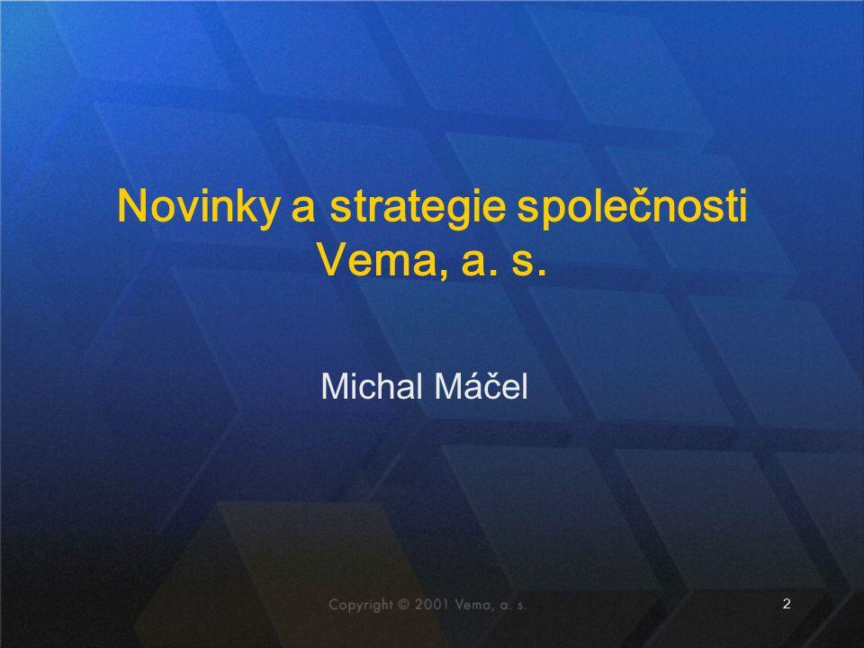 2 Michal Máčel Novinky a strategie společnosti Vema, a. s.