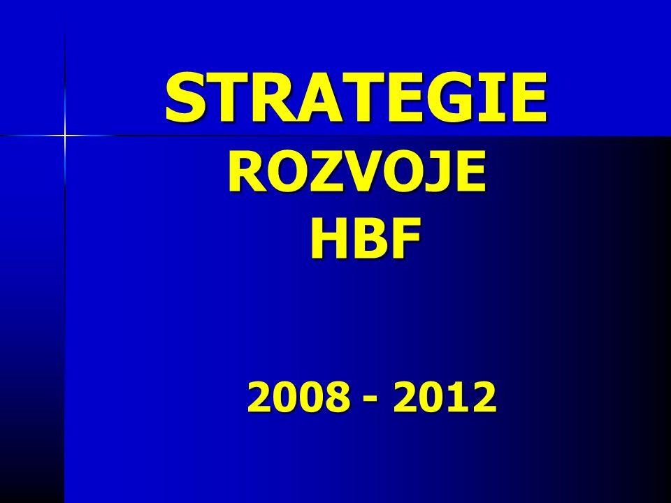 STRATEGIE ROZVOJE HBF 2008 - 2012