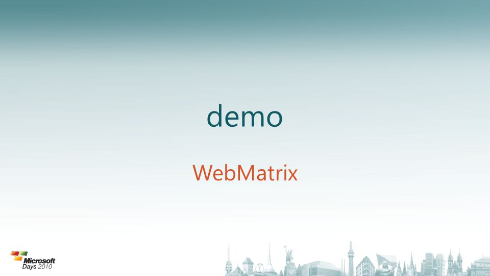 demo WebMatrix
