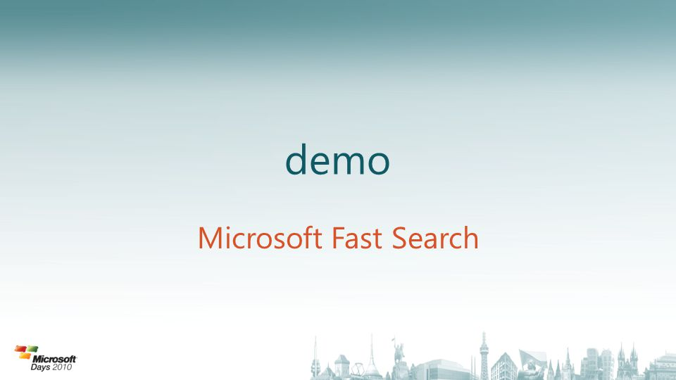 demo Microsoft Fast Search