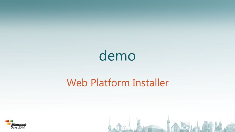 demo Web Platform Installer