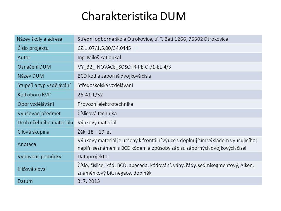 Záporná dvojková čísla – pokračování – M1D Proč se mu říká doplněk.