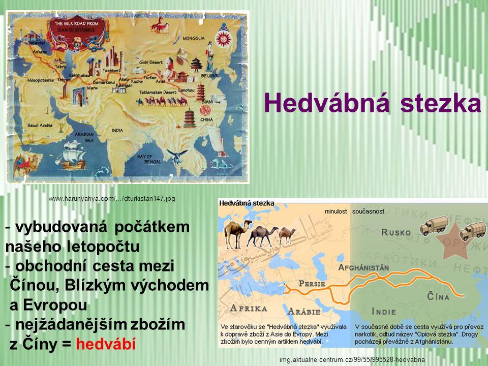 Chov bource morušového a výroba hedvábí Podle čínské legendy se objev hedvábného vlákna datuje do roku 2640 př. n. l.. Vypráví se, že Chuang-Ti požáda
