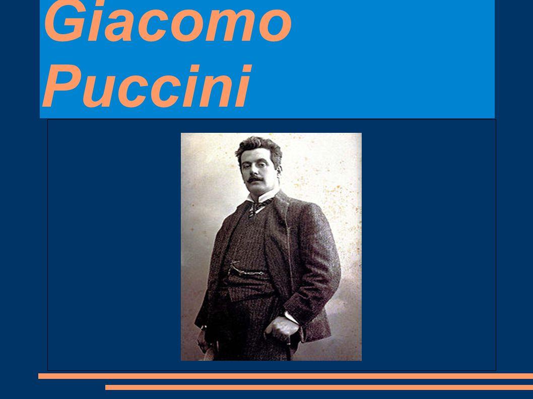 Životopis Giacomo Puccini byl slavný italský skladatel.