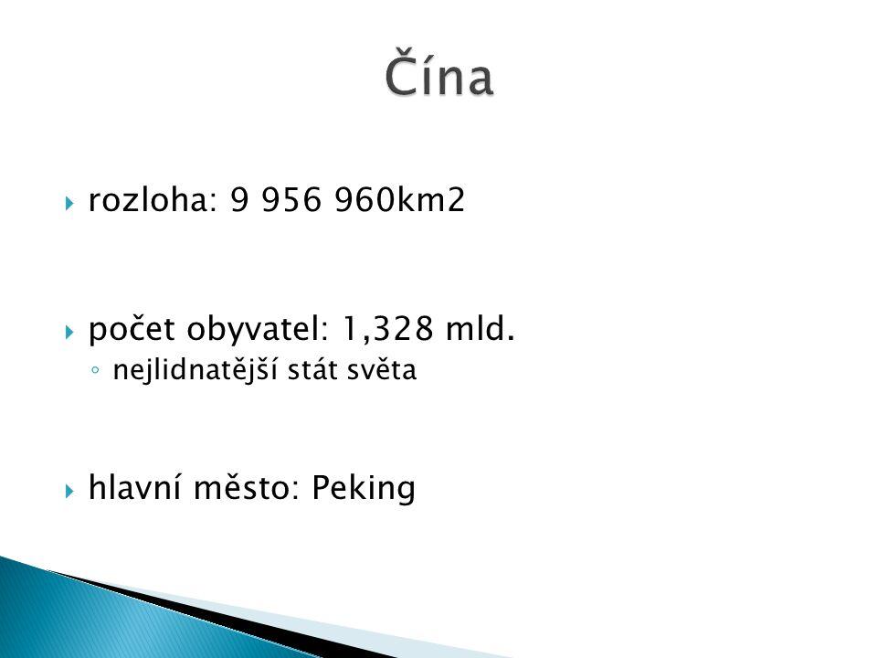  rozloha: 9 956 960km2  počet obyvatel: 1,328 mld.