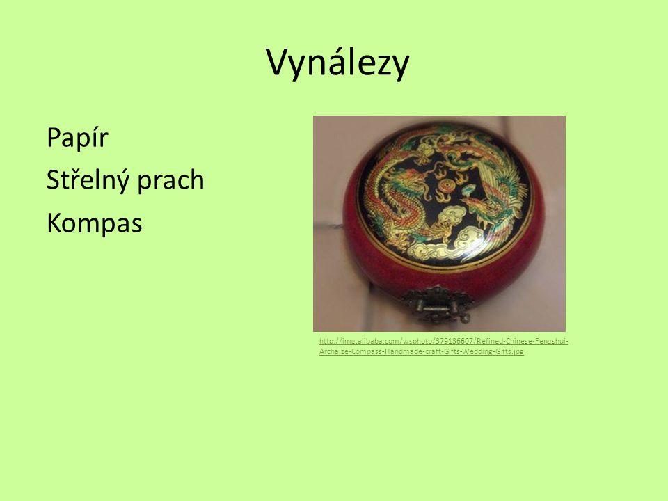 Vynálezy Papír Střelný prach Kompas http://img.alibaba.com/wsphoto/379136607/Refined-Chinese-Fengshui- Archaize-Compass-Handmade-craft-Gifts-Wedding-G