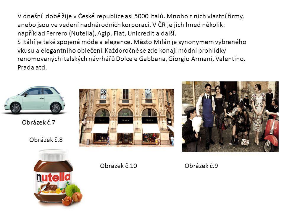V dnešní době žije v České republice asi 5000 Italů.