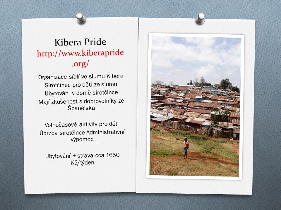 Kibera Pride http://www.kiberapride.org/ Organizace sídlí ve slumu Kibera Sirot č inec pro d ě ti ze slumu Ubytování v dom ě sirot č ince Mají zkušeno