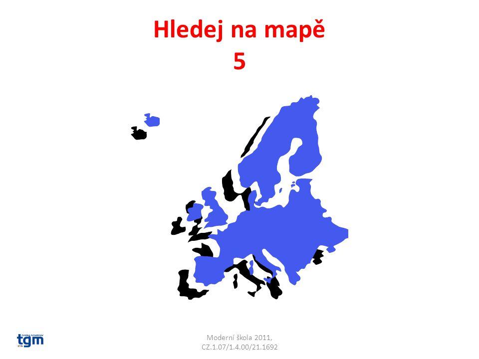 Hledej na mapě 5 Moderní škola 2011, CZ.1.07/1.4.00/21.1692
