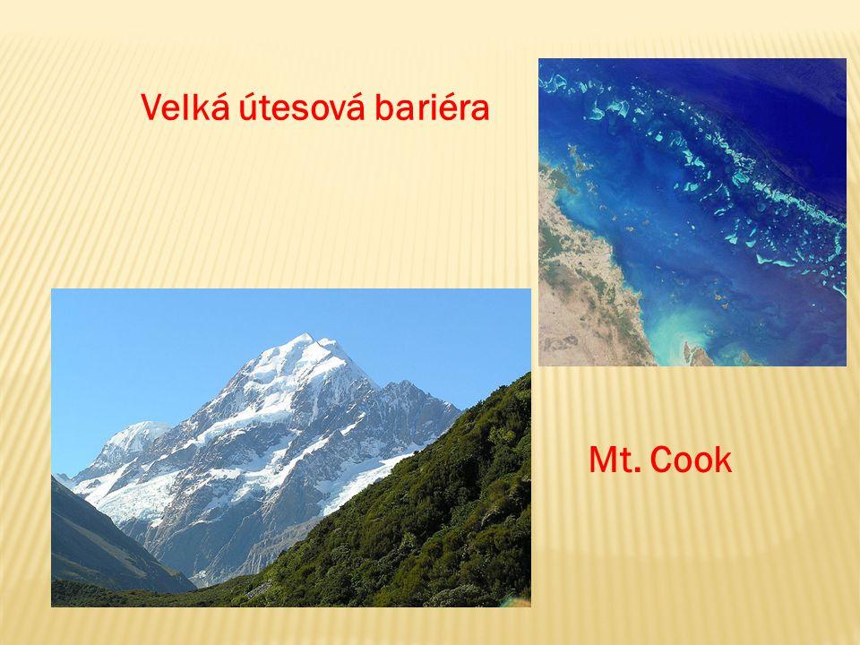 Velká útesová bariéra Mt. Cook