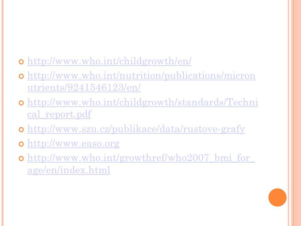 http://www.who.int/childgrowth/en/ http://www.who.int/nutrition/publications/micron utrients/9241546123/en/ http://www.who.int/childgrowth/standards/T