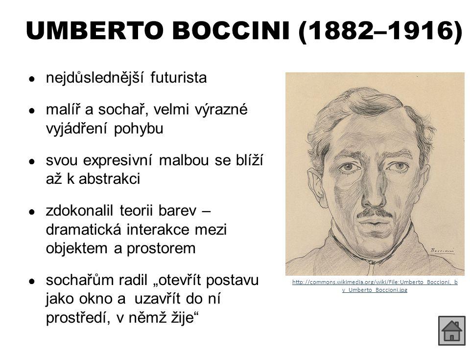 CARLO CARRÀ (1881–1966) ● iniciátor futurismu ● přešel pozvolna ke kubismu (1911) ● pod vlivem Giorgia di Chirika se jeho tvorba přiklonila k metafyzické malbě – postavy bez obličeje, podobné krejčovským manekýnům ● později přešel ke státnímu fašistickému umění ● ukázky díla: – http://www.wikipaintings.org/en/carlo-carra/mode/all-paintings http://www.wikipaintings.org/en/carlo-carra/mode/all-paintings