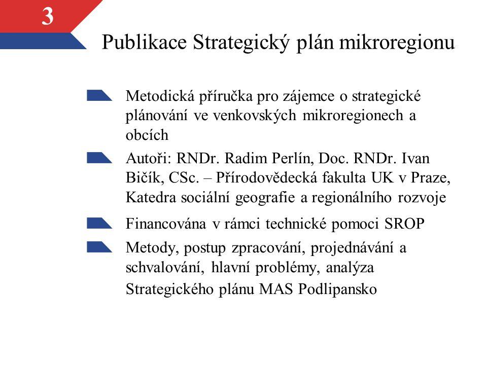 3 Publikace Strategický plán mikroregionu Metodická příručka pro zájemce o strategické plánování ve venkovských mikroregionech a obcích Autoři: RNDr.