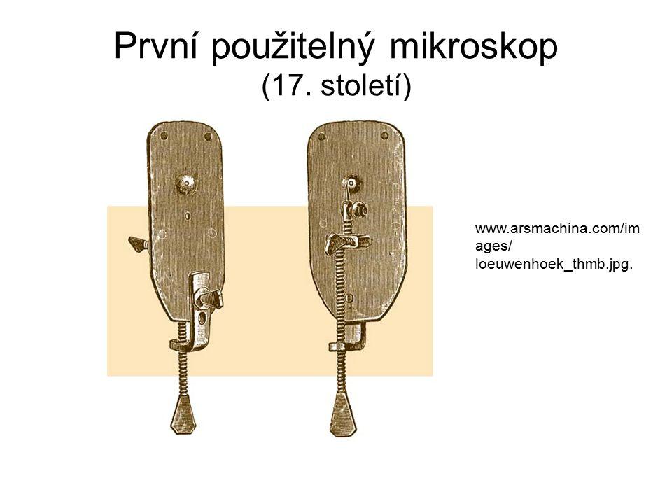 První použitelný mikroskop (17. století) www.arsmachina.com/im ages/ loeuwenhoek_thmb.jpg.
