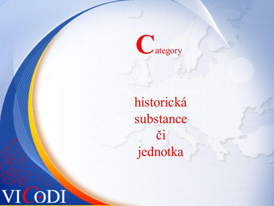 C ategory historická substance či jednotka