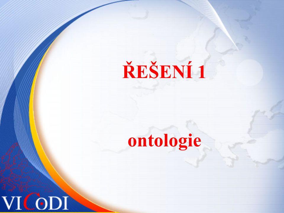 ŘEŠENÍ 1 ontologie