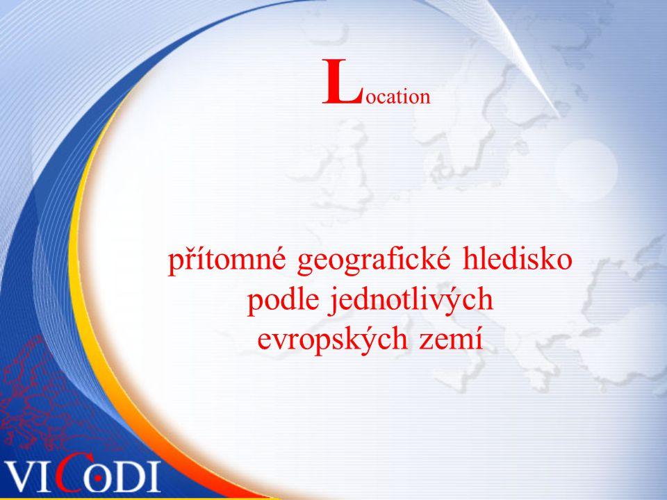L ocation přítomné geografické hledisko podle jednotlivých evropských zemí