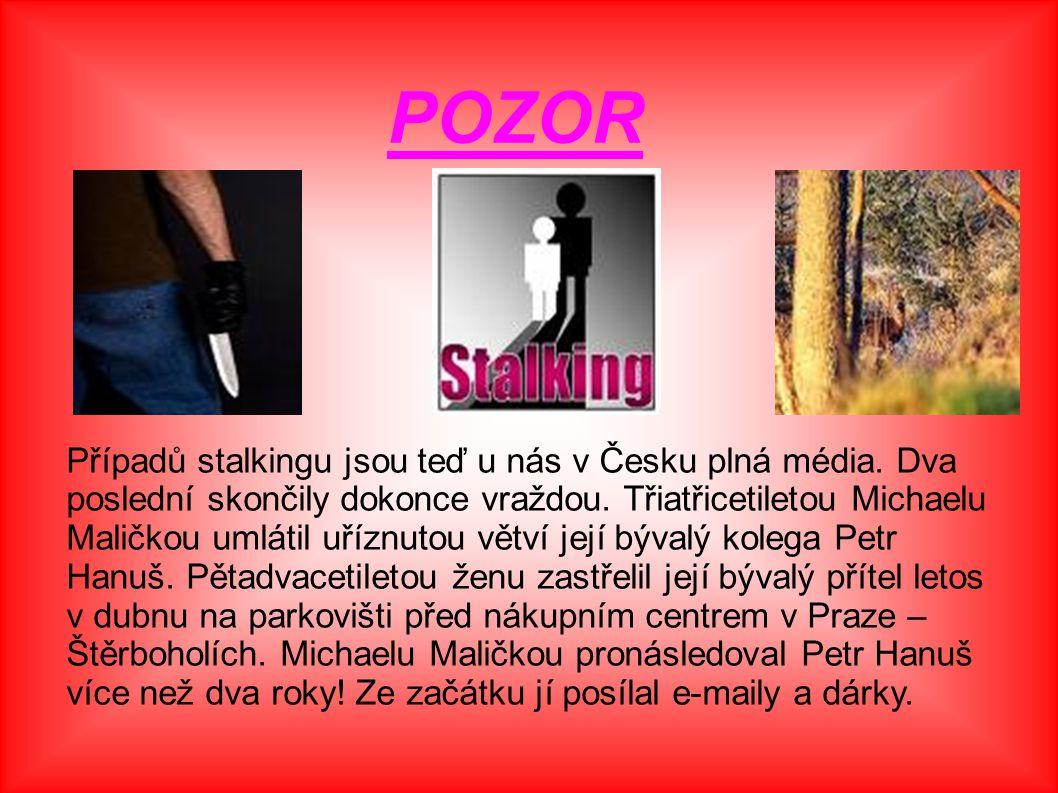 Případů stalkingu jsou teď u nás v Česku plná média. Dva poslední skončily dokonce vraždou. Třiatřicetiletou Michaelu Maličkou umlátil uříznutou větví