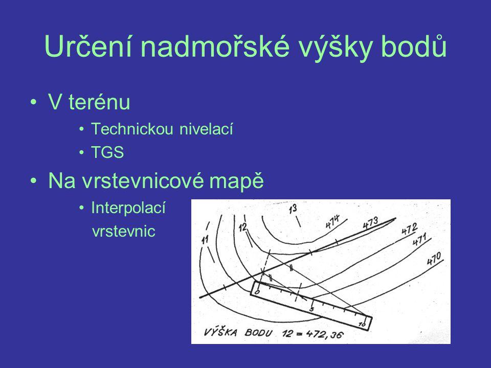 Podélný profil Kolmý průřez terénem v ose projektované cesty Vykreslení Na milimetrový papír M – délka 1:1 000 výška 1:100
