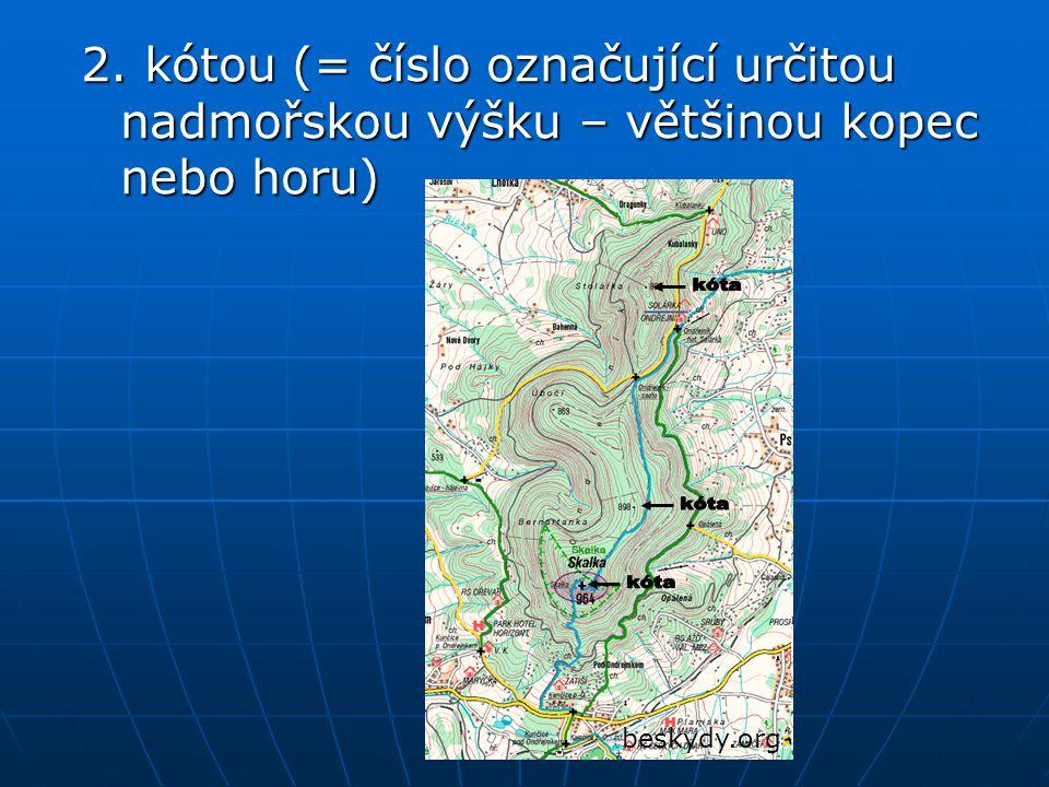 beskydy.org 2. kótou (= číslo označující určitou nadmořskou výšku – většinou kopec nebo horu)