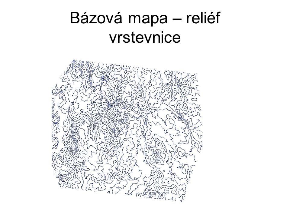 Bázová mapa – reliéf vrstevnice