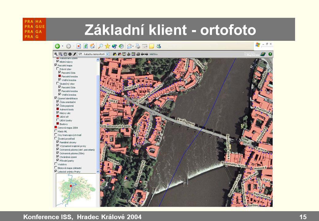 Konference ISS, Hradec Králové 200415 Základní klient - ortofoto