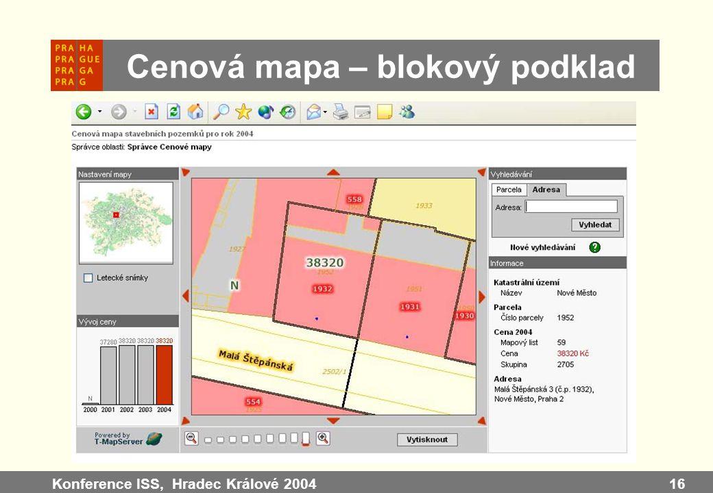 Konference ISS, Hradec Králové 200416 Cenová mapa – blokový podklad