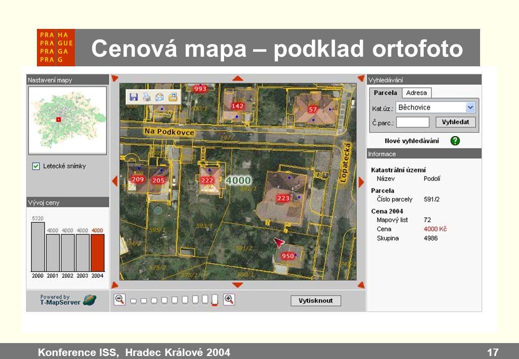 Konference ISS, Hradec Králové 200417 Cenová mapa – podklad ortofoto