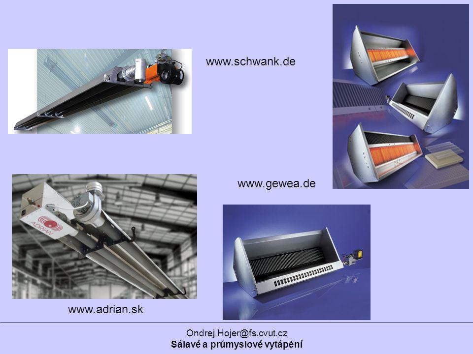 Ondrej.Hojer@fs.cvut.cz Sálavé a průmyslové vytápění www.gewea.de www.schwank.de www.adrian.sk