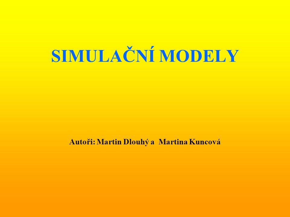 SIMULAČNÍ MODELY Autoři: Martin Dlouhý a Martina Kuncová