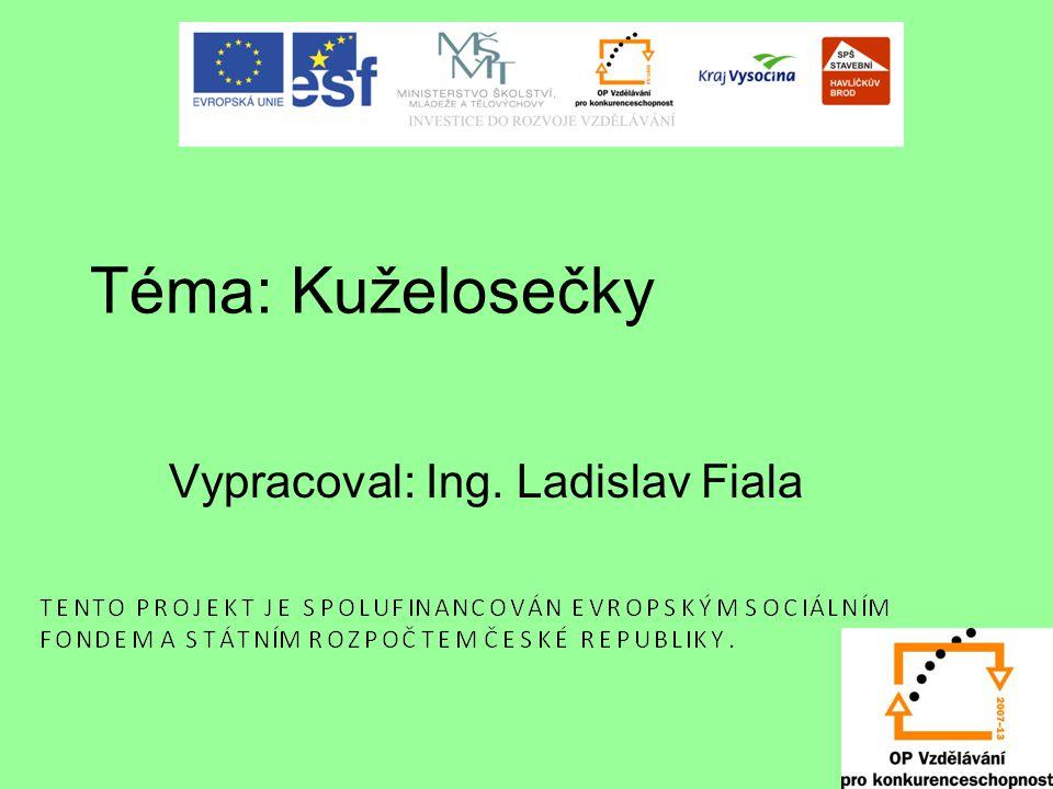 Téma: Kuželosečky Vypracoval: Ing. Ladislav Fiala