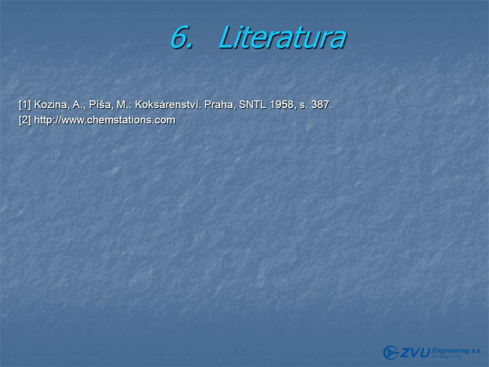 6.Literatura [1] Kozina, A., Píša, M.: Koksárenství.
