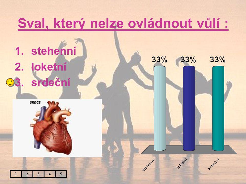 Sval, který nelze ovládnout vůlí : 12345 1.stehenní 2.loketní 3.srdeční