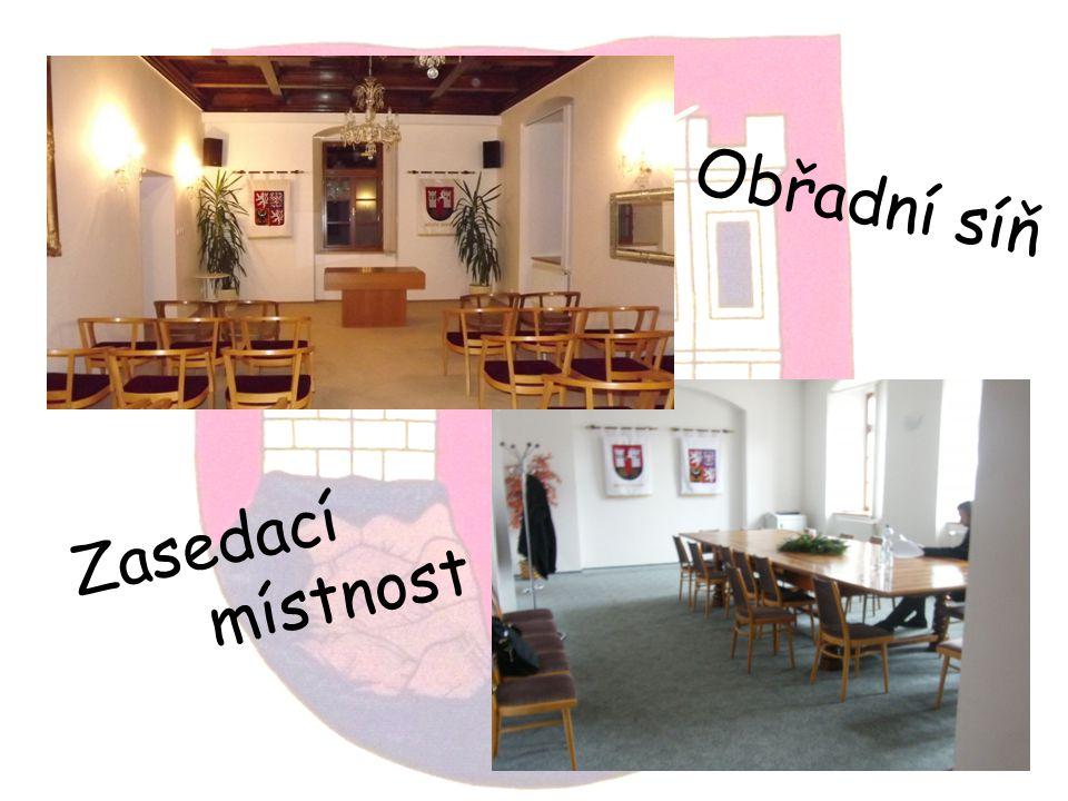 Obřadní síň Zasedací místnost