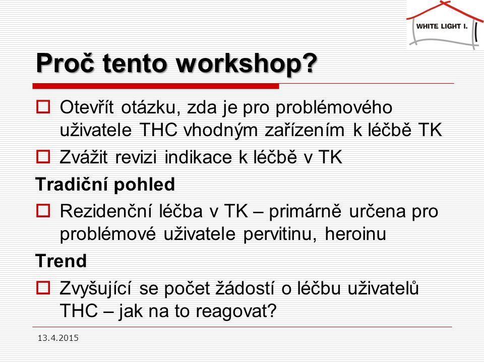 Proč tento workshop.