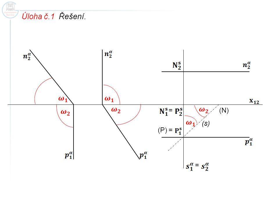 Úloha č.1 Řešení. = = (s) (N) (P)=