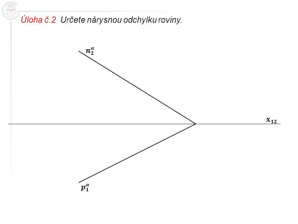 Úloha č.2 Určete nárysnou odchylku roviny.