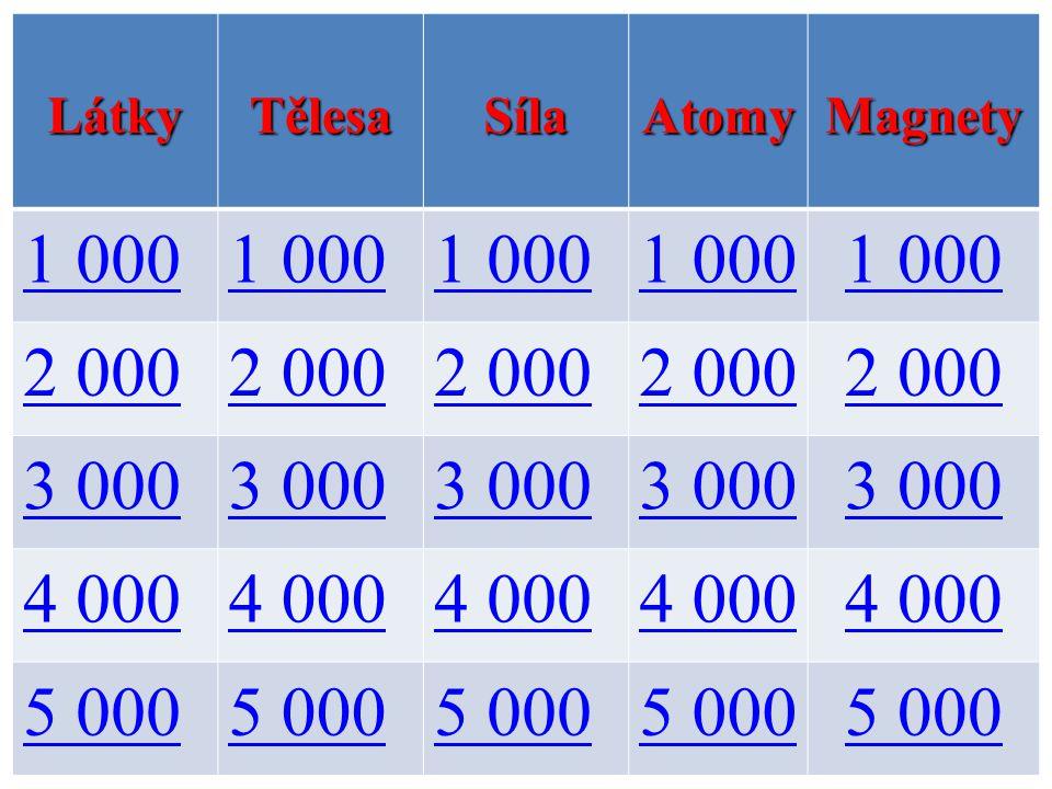 LátkyTělesaSílaAtomyMagnety 1 000 2 000 3 000 4 000 5 000