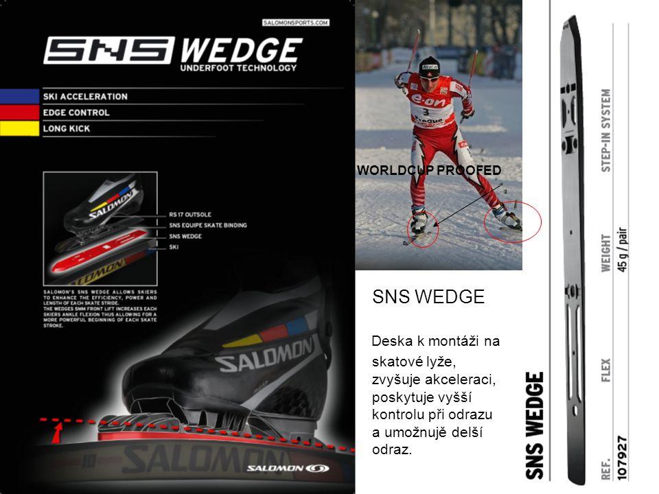 SNS WEDGE Deska k montáži na skatové lyže, zvyšuje akceleraci, poskytuje vyšší kontrolu při odrazu a umožnujě delší odraz.