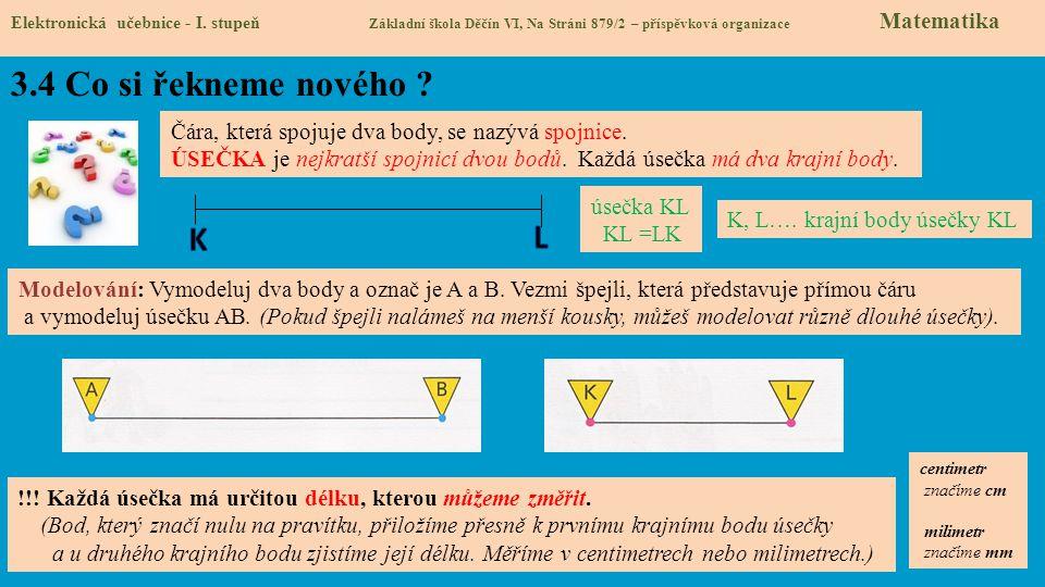 3.5 Procvičení a příklady Elektronická učebnice - I.