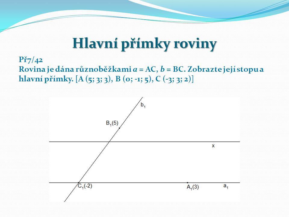 Př7/42 Rovina je dána různoběžkami a = AC, b = BC.